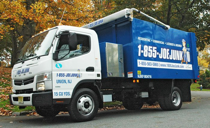 Photo of a JoeJunk truck, to highlight the 1-855-JoeJunk Removal & Clean Out services available