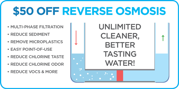 $50 Off New Reverse Osmosis Installation by The Jayson Company