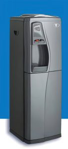 photo of bottleless water cooler, floor standing model