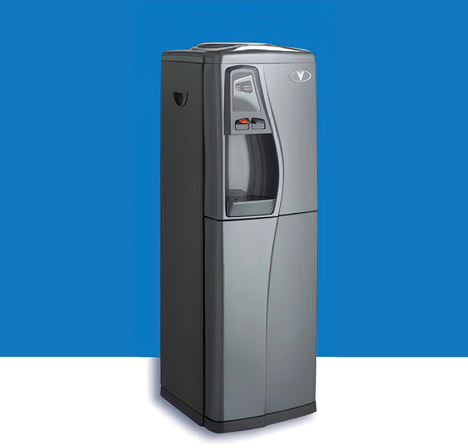 photo of floor-standing bottleless water cooler.