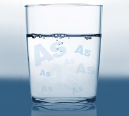 Glass of water suggesting the presence of Arsenic in drinking water