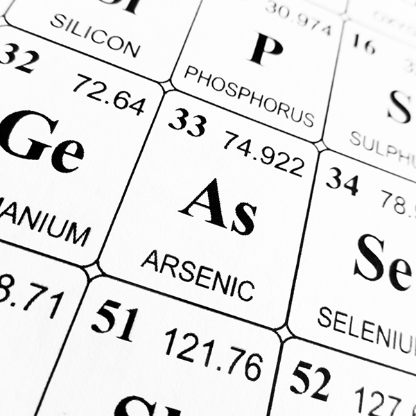 Photo of Arsenic listing on Periodic Table of the Elements