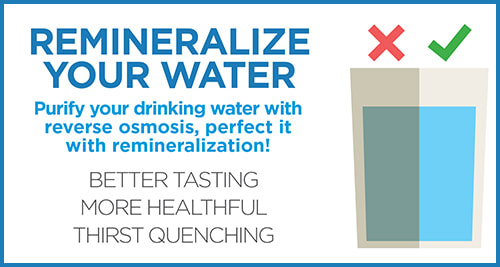 Graphic promoting remineralization after reverse osmosis treatment, from Jayson Company